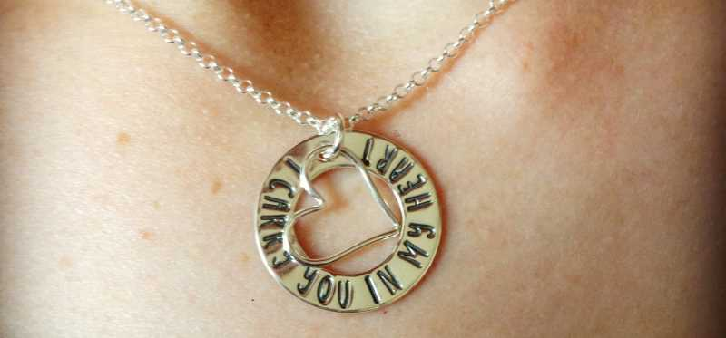A commemorative necklace my wife wears for the miscarriage.
